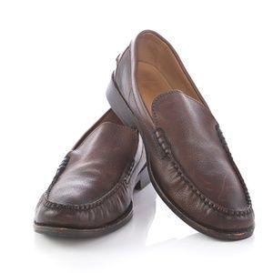 Frye Douglas Venetian Brown Leather Loafers Shoes